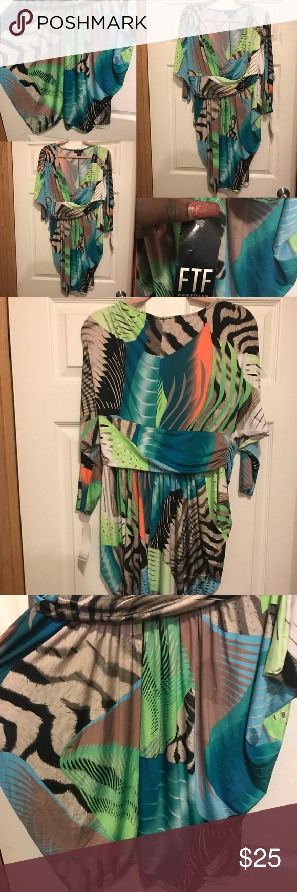 PLUS MULTICOLOR ANIMAL PRINT LONG SLEEVE DRESS PLUS MULTICOLOR ANIMAL PRINT LONG SLEEVE DRESS. SIZE 2X. SEXY MINI DRESS. GOOD MATERIAL. LIGHT WEIGHT WITH GREAT STRETCH. Fashion to Figure Dresses Mini