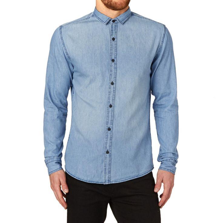 Men's Only & Sons Shirts - Only & Sons Asp Shirt - Medium Blue Denim