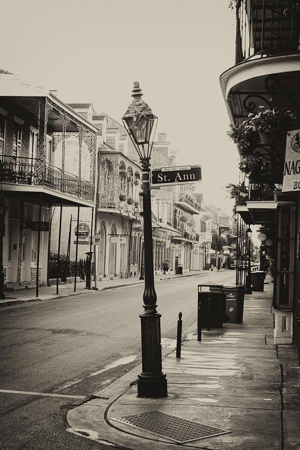 St. Ann by Ryan Burton St. Ann street in New Orleans. Historic street in the french quarter near Jackson square.