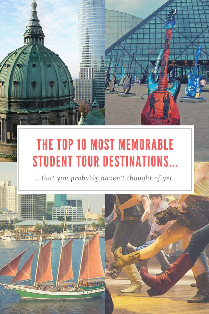 Who says educational tours have to be boring? We've got a list of some of the coolest, most original and most memorable student tour destinations around the United States that will have your students talking long after they've returned home. Click the link and enter your email to download your copy!