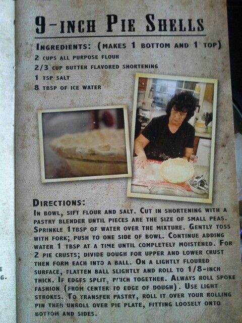 Miss kays amazing pie crust recipe mmmmm