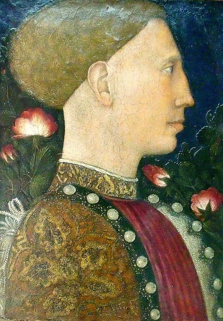 Pisanello, Portrait de Lionello d'Este  1441. Uncle of Isabella d'Este.