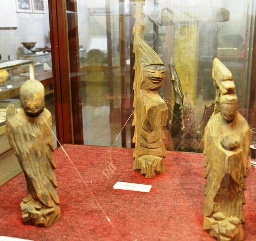 円空の木彫仏像(3体)甘楽町歴史民俗資料館 群馬県