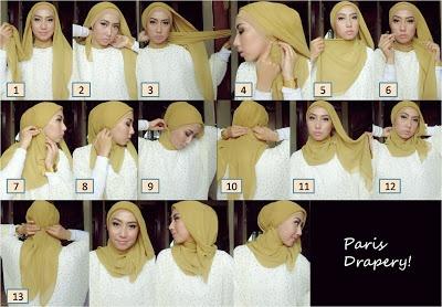 Lastfridaynight: Hijab Tutorial 1 - Paris Drapery :)