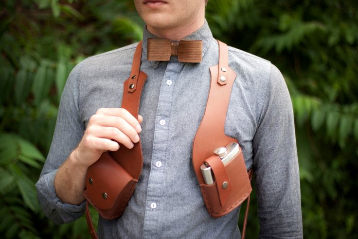 Vice Holster (cigarettes and flask). $145.00, via Etsy.