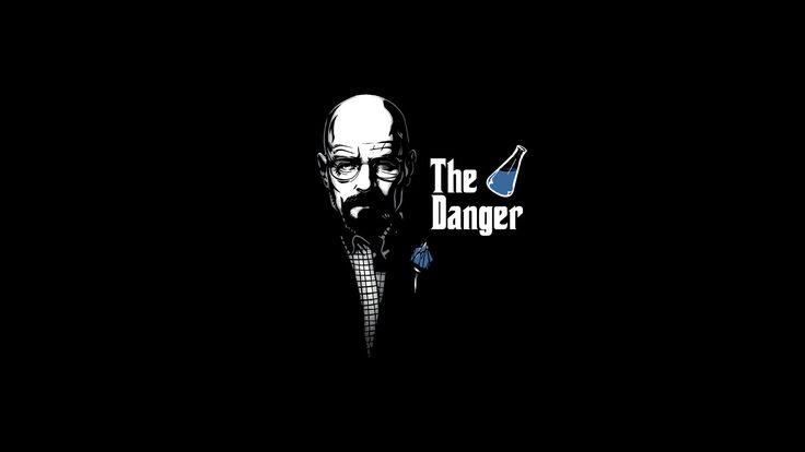 minimalistic funny Breaking Bad Walter White simple background danger Heisenberg breaking bad, walter, walter junior, hank, mike, jesse, jesse pinkman, marie, sk  / 1600x900 Wallpaper