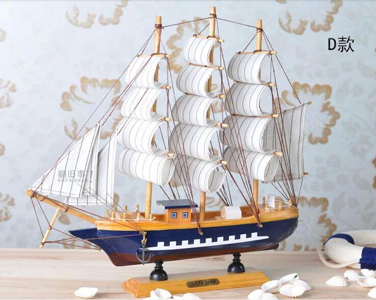 Высокое качество Деревянных судов украшения дома ремесел 32*6*30 см Гладкой твердой древесины корабль модель деревянный парусник деревянные лодки модель
