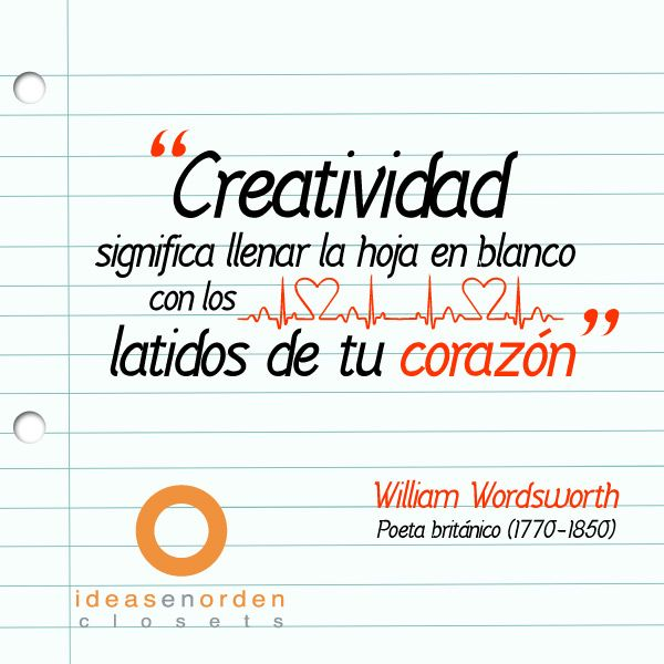 William Wordsworth. Poeta británico (1770-1850). #IdeasenOrden #clósets