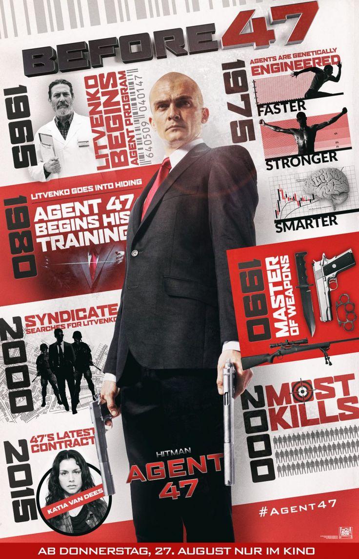 #HITMAN Agent Fourty Seven [] [2015] [] http://www.imdb.com/title/tt2679042/ [] official trailer [191s] ▶ https://www.youtube.com/watch?v=RsAnxjcPqG0  [] official trailer [151s] ▶ https://www.youtube.com/watch?v=A8fr9YD-OUg [] https://www.youtube.com/watch?v=alQlJDRnQkE [] boxoffice take http://www.boxofficemojo.com/movies/?id=hitman47.htm []