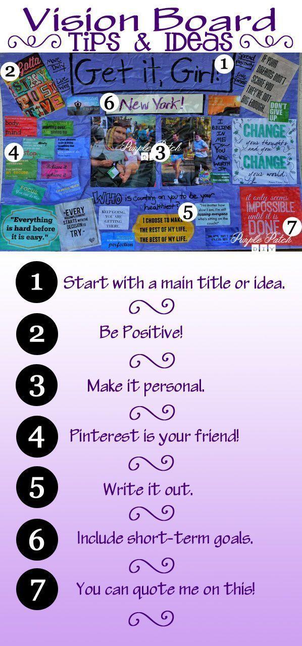 Tips and tricks for making your own DIY inspiration board or DIY vision board - great for ...