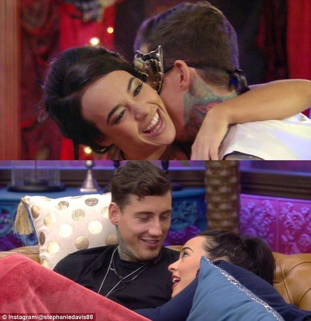 'He's a nightmare, but he's my nightmare': Stephanie Davis, 24, publicly declared her love for on/off boyfriend Jeremy McConnell in an emotional Instagram post on Saturday