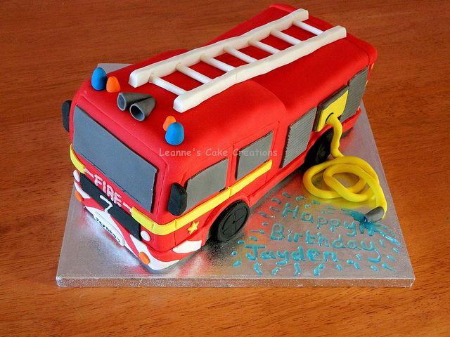 Feuerwehrauto Kuchen