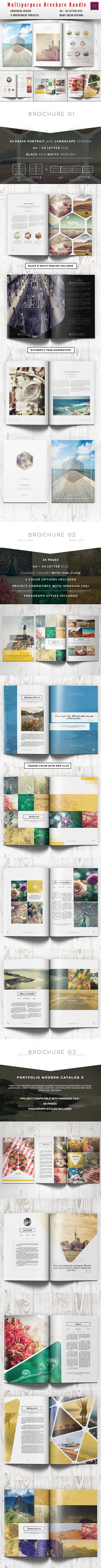 Multipurpose Clean Brochure BundleBundle includes 3 independent projects,Project...
