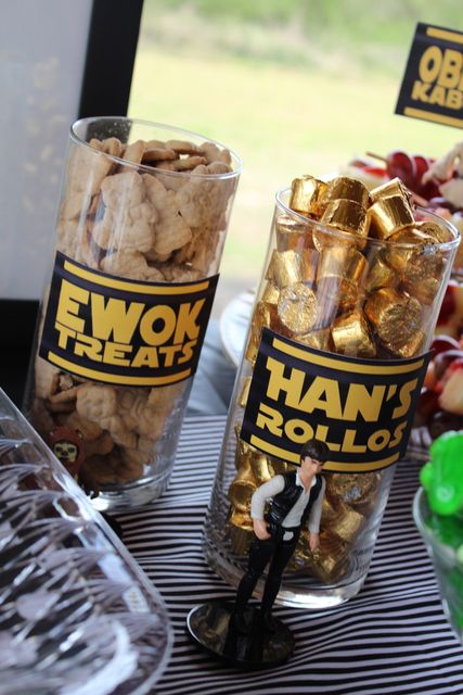 Treats at a Star Wars party #starwars #partytreats See more more party ideas at CatchMyParty.com