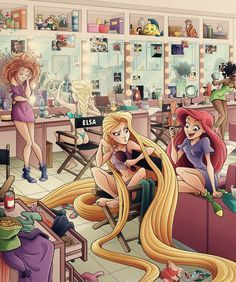 Disney Dressing Room Depictions - Eumenidi Shows What a Princess Dressing Room Would Look Like (GALLERY)