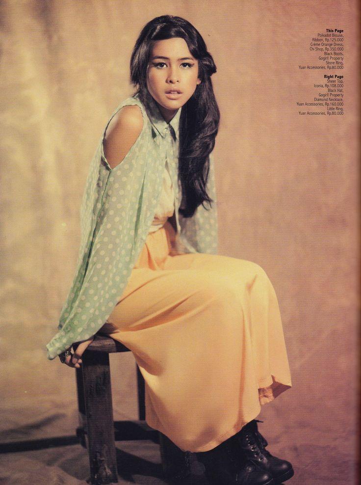 Maudy Ayunda Majalah Gogirl Cewek Cantik Pinterest