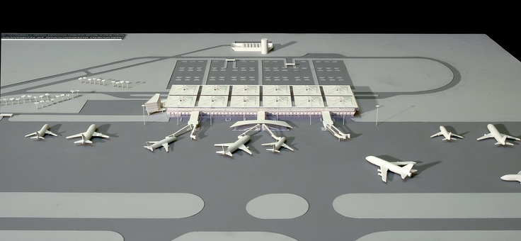 Florianopolis Airport Model. Project: Estudio MRGB and Sergio Parada   Model: Daniel Koji Mike