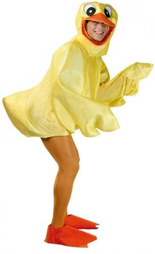 Duck costume.  Disfraz de Patito adulto.