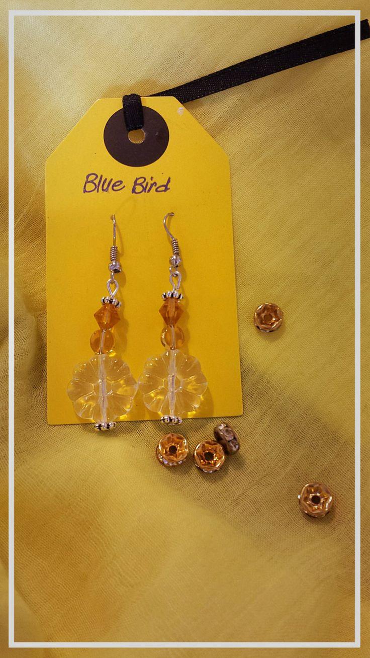 Snow crystal earrings by BlueBirdjewel on Etsy