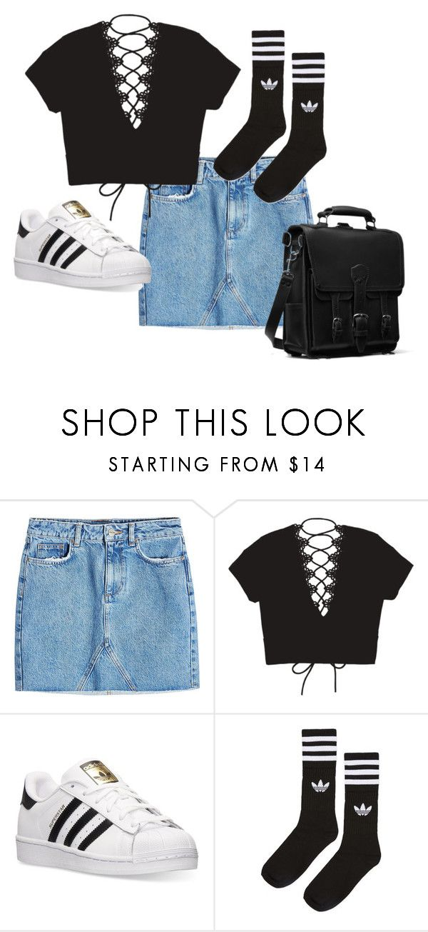 """IDK"" by belle13lee on Polyvore featuring Anine Bing and adidas"