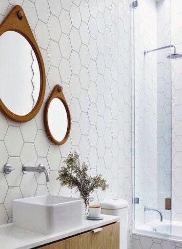 Hexagon wit mat wand- en vloertegel 17,5 x 20 cm per m2