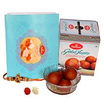 Om Stylo Rakhi with Delightful Sweets