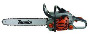 Best Chainsaw review no. 2. Tanaka TCS40EA18 18-Inch Gas Powered Chain Saw. You've all heard of Husqvarna but Tanaka may be an unfamiliar brand to you, even though the company has been making outstanding lawn equipment for decades.