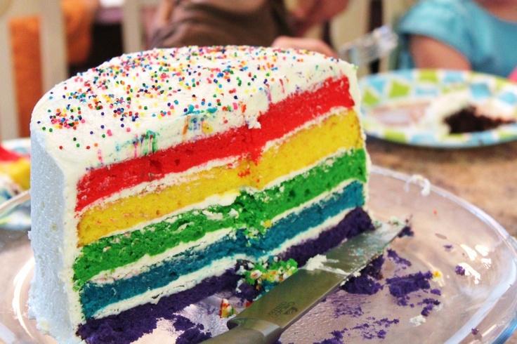 Rainbow Layer Cake | Cakes | Pinterest