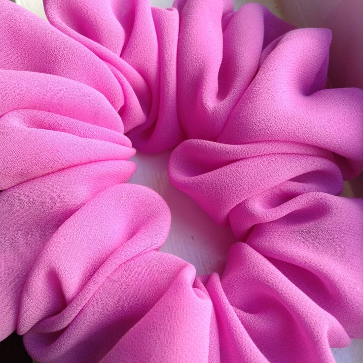 Pink georgette women hair scrunchy/scrunchies/ponytail holder by Leenasscrunchies on Etsy:
