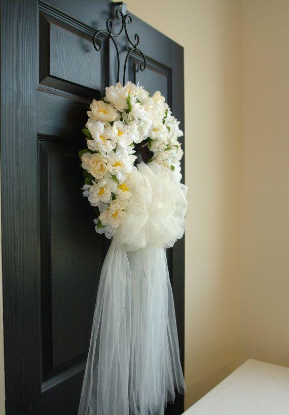 ghirlanda primavera prima comunione matrimonio corone bianco