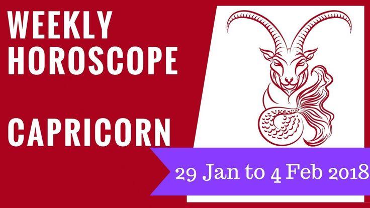 Capricorn weekly horoscope 29 January to 4 February 2018 #Capricorn #horoscope #astrology #forecast