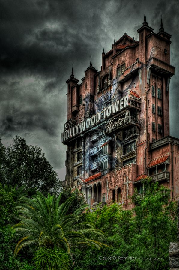 The Twilight Zone Tower of Terror, Hollywood Studios. Disney Florida. Have been on this - the build up is brilliant.