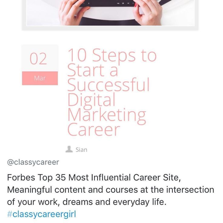 Check it out! #ClassyCareerGirl featured my guest article  want to kick start your #digitalmarketing career? Follow these 10 steps to get ahead! Link in bio  ... #marketing #marketingblog #marketingtips #careers #careerwoman #careergoals #careeradvice