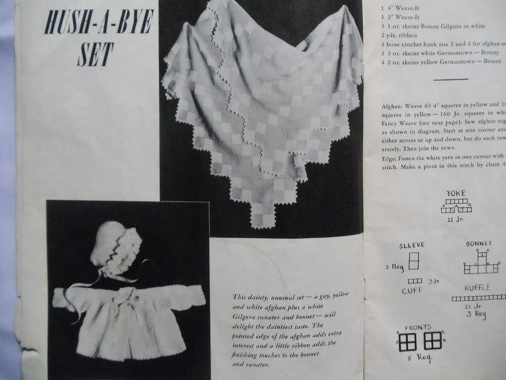 Vintage Weave -It book Pattern. Baby. Easy.