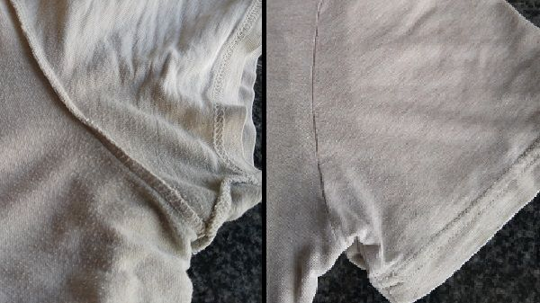 how to clean sweat stains offwood