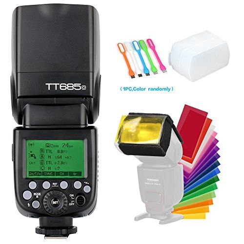 Godox TT685O TTL Camera Flash speedlite High Speed Sync 18000s GN60 24G for Olympus Panasonic cameraDiffuser  Filter USB LED Free Gift *** You can find more details by visiting the image link.