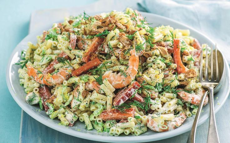 Feed the family this delicious creamy prawn and macaroni salad - enjoy it on it's own as a light meal or as the perfect side dish to a big dinner spread!