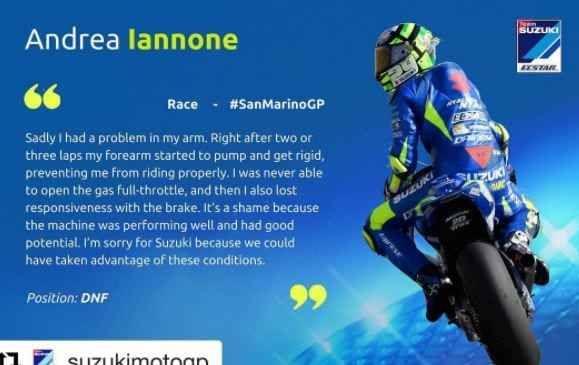 Motogp, Iannone risponde a critiche dopo ritiro Misano #iannone #motogp #misano #belen #rodriguez
