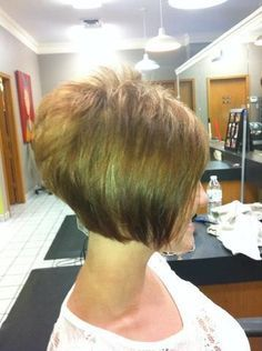 Chin-Length Stacked Bob short back | Short Stacked Bob Haircuts Back View 100 + popular bob hairstyles