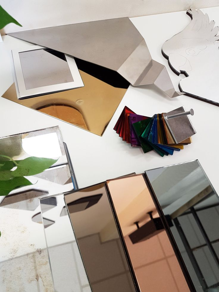 Delicious mirrored material samples. When designing your bespoke mirror we will go through all the benefits of the different materials and select the best fit for your home or project. Process will very much depend on the design, the mirrors could be hand made in East London from glass, laser cut in Cambridge or fabricated from metal in Tewksbury. www.haideedrew.com  #material #mirror #metal #process #mirror