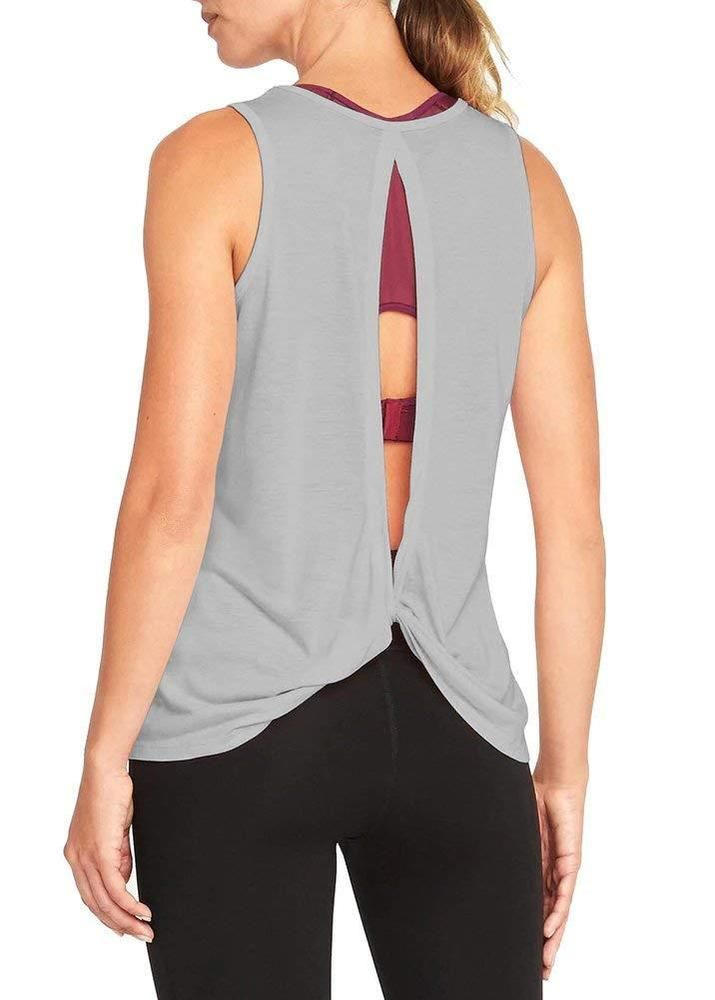 c30e721a5c4a5 Mippo Women s Sexy Backless Workout Tank Yoga Active Tops Open Back Knot  Shirt  fashion  clothing  shoes  accessories  womensclothing  tops  ad  (ebay link)