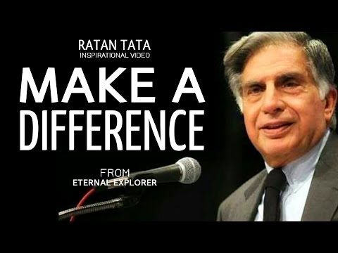 Make a Difference - Ratan Tata - HAPPY FAMILY NEEDS