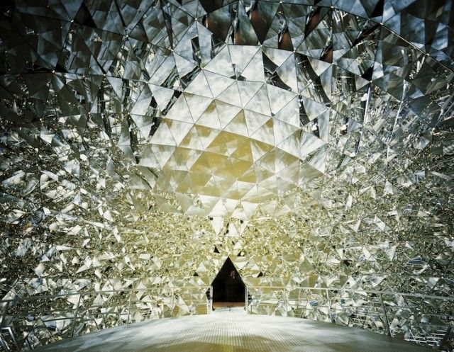 Crystal Dome is lined with 595 mirrors that give visitors the feeling that they've stepped inside a crystal.
