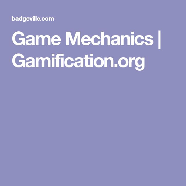 Game Mechanics | Gamification.org