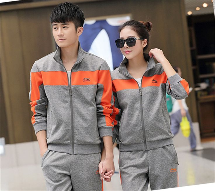 Hot koop! beroemde merk mannen vrouwen casual katoen jassen sport pak jas mode uitloper sport sets jas kleding + broek in Free shipping 2015 autumn winter jacket coat sportwear man/women coats fashion brand outdoors clothing+pants plus size L van vrouwen sets op AliExpress.com | Alibaba Groep