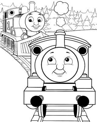 Aneka Gambar Mewarnai - 30 Gambar Mewarnai Thomas and Friends Untuk Anak PAUD dan TK.