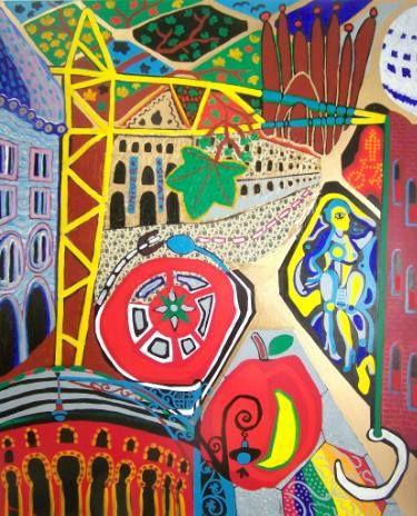 "Saatchi Art Artist Karlijn Surminski; Collage, ""Eixample"" #art"