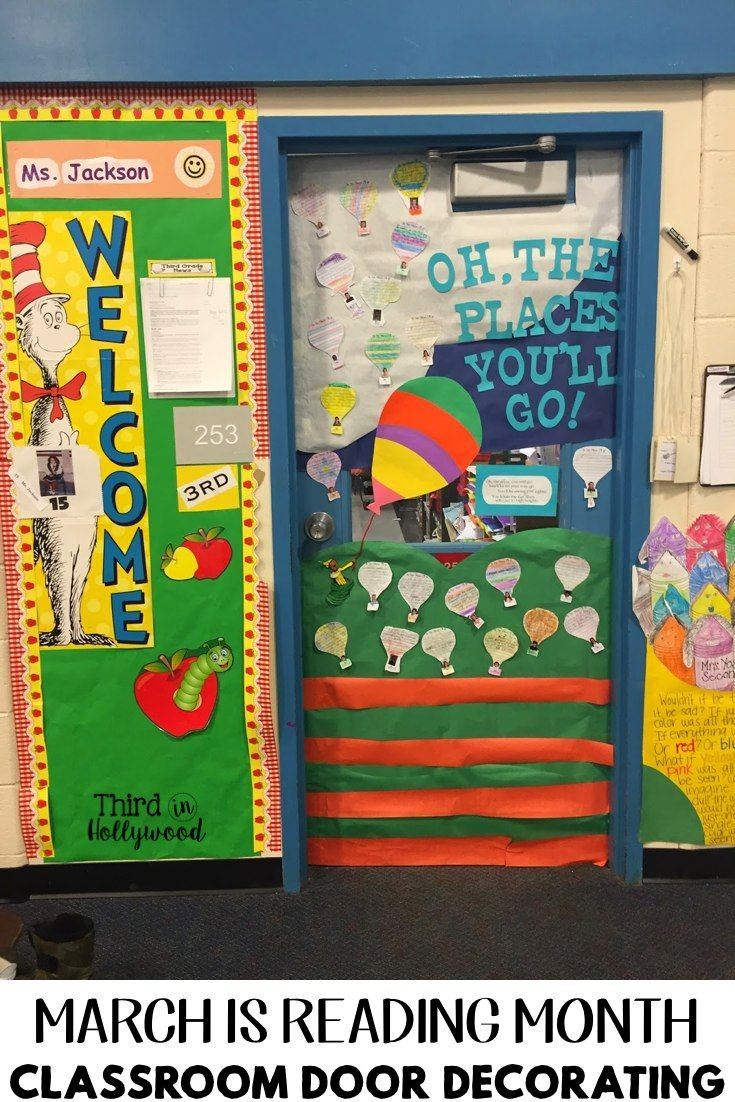 Reading Classroom Door Decorations : March is reading month classroom door decorating spring