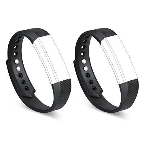 GinCoband 2PCS Replacement Bands for Fitbit Alta Fitness Tracker Fitbit Alta Bands with Metal Clasps No Tracker
