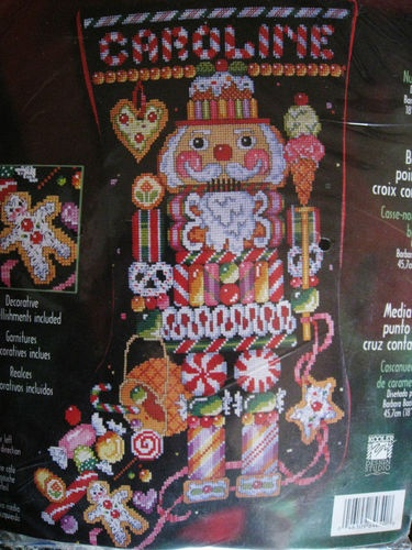 bucilla christmas counted cross stitch stocking kit candy